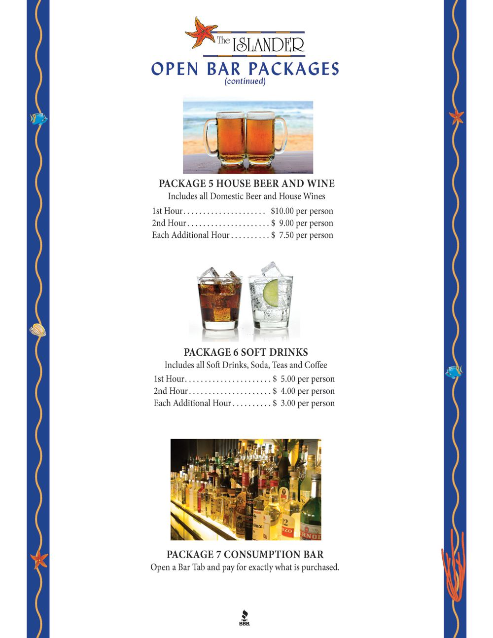 Bar Packages Page 2