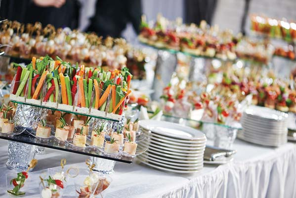 Buffet at Wedding Reception