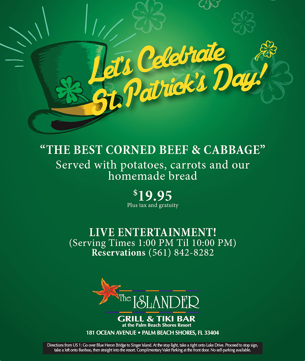 Celebrate St. Patrick's Day at The Islander Grill and Tiki Bar