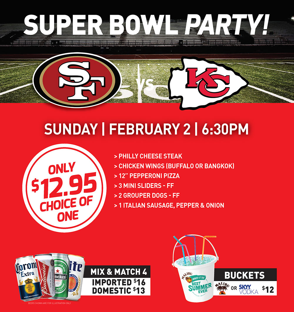 Super Bowl Party at The Islander Grill and Tiki Bar